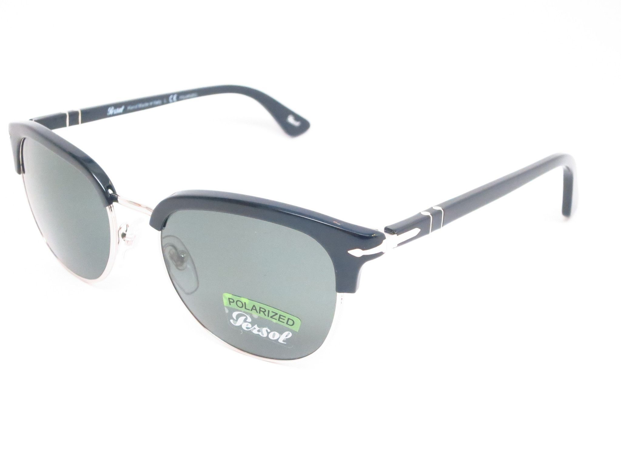 b0249a2417 Persol PO 9714-S 95 58 Shiny Black Polarized Folding Sunglasses