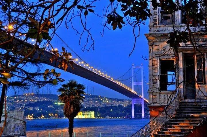 Istanbul - view of Beylerbeyi and First Bridge