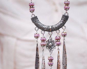 Hamsa capas collar collar del encanto de elefante por Estibela