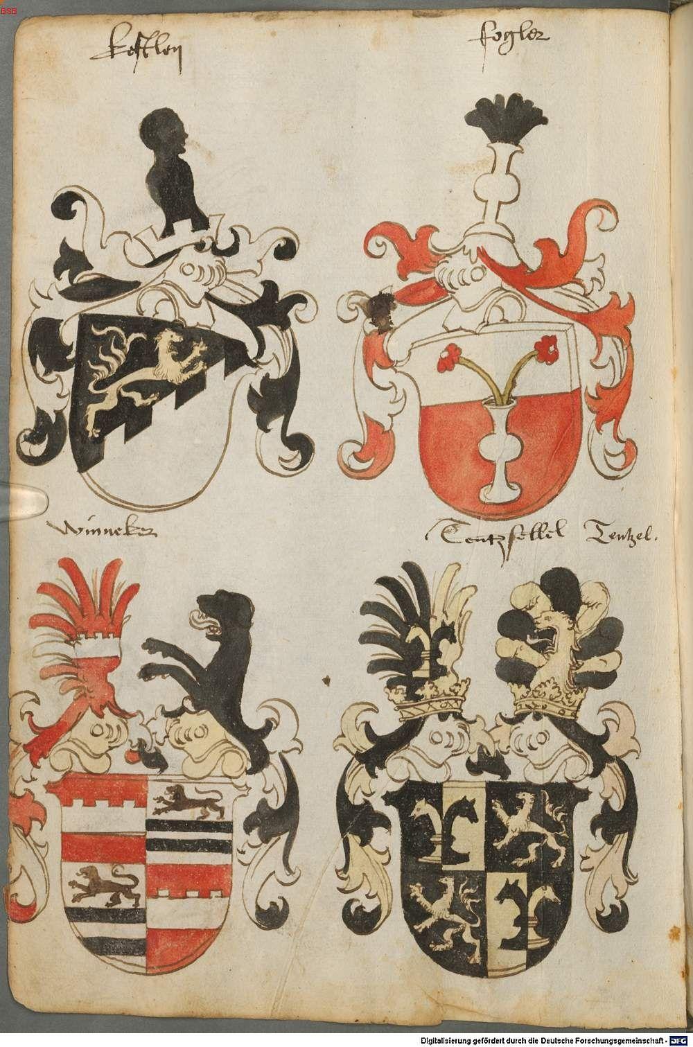 Tirol, Anton: Wappenbuch Süddeutschland, Ende 15. Jh. - 1540 Cod.icon. 310  Folio 32v