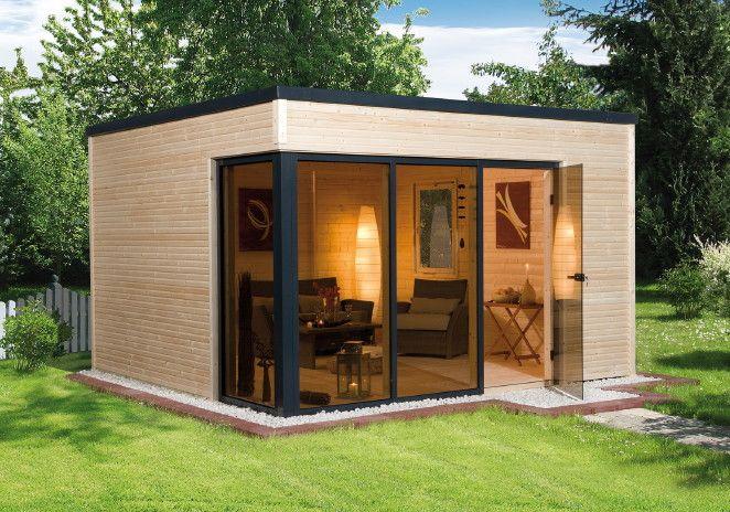 Gartenhaus WEKA wekaLine 412 Flachdach Haus mit großer Fenster