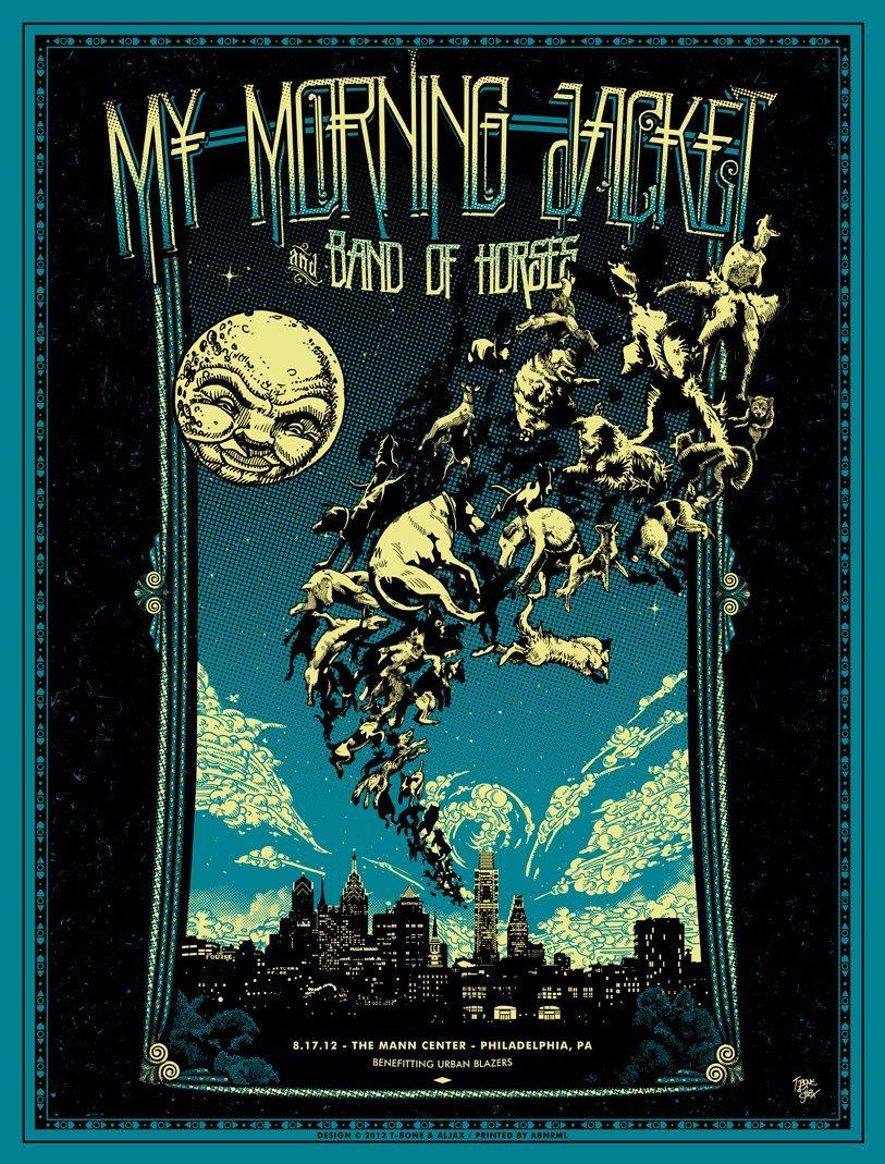 Tonight\'s My Morning Jacket Poster from Philadelphia by T-Bone ...