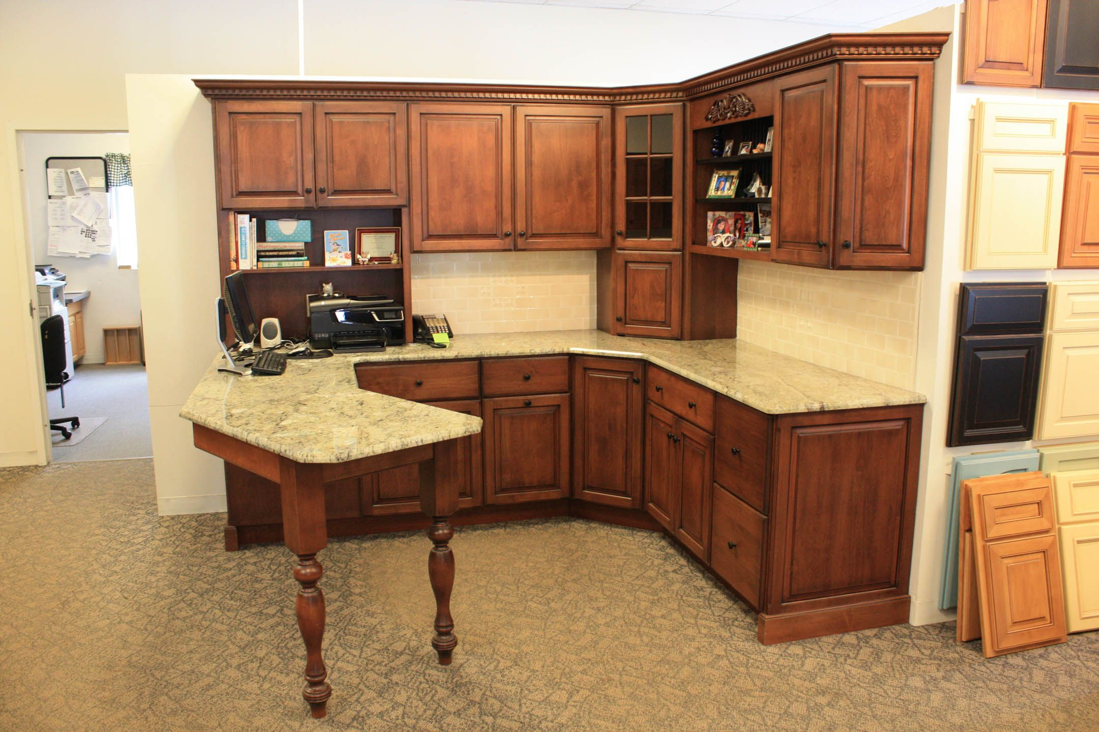 This Beautiful Home Office Display Features Custom Candlelight Cabinetry This Office Is Fully Loaded With F Candlelight Cabinetry Kitchen Renovation Cabinet
