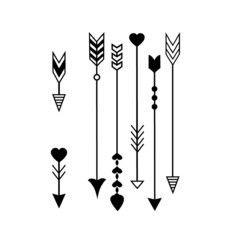 Tatuagem Temporaria Flechas E Flechinhas Arrow Tattoos Heart Arrow Tattoo Small Arrow Tattoos