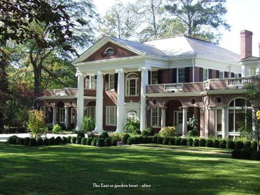 Georgia southern plantations southern homes plantations for Savannah style house plans