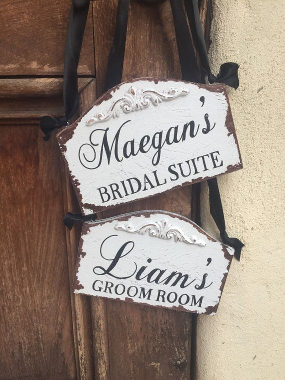 Bridal Suite Sign And Groom Room Sign For By Fromkellywithlove