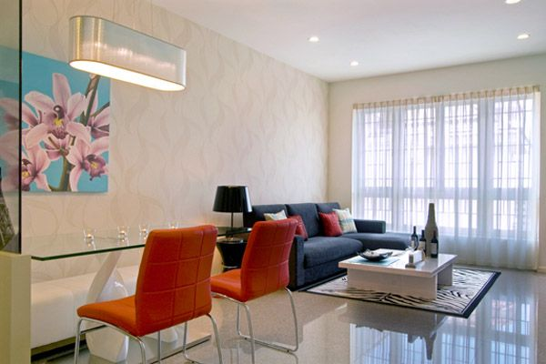 Apartment Small Living Room Dining Decorating Ideas Pictures Furniture For Space Bright Color Apartments