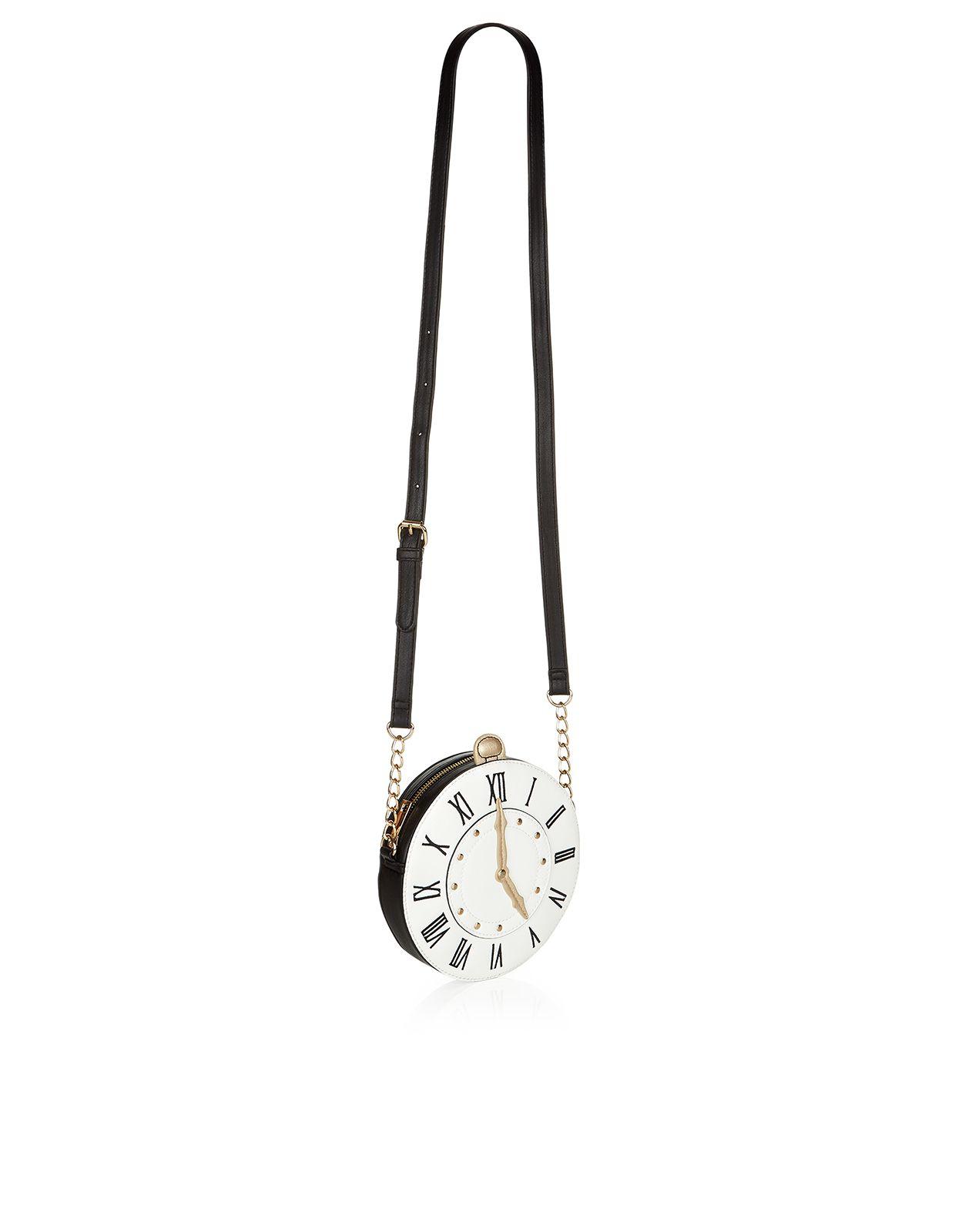 Tick Tock - Borsa a tracolla a forma di orologio   Multicolore   Accessorize
