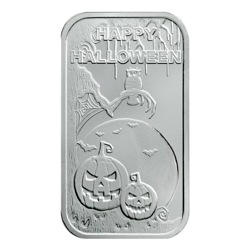 Happy Halloween Scary 1oz 999 Silver Bar Silver Bars Scary Halloween Happy Halloween