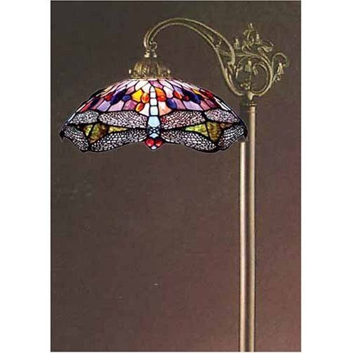 Tiffany Style Stained Glass Bridge Floor Lamp Fb14167 Office