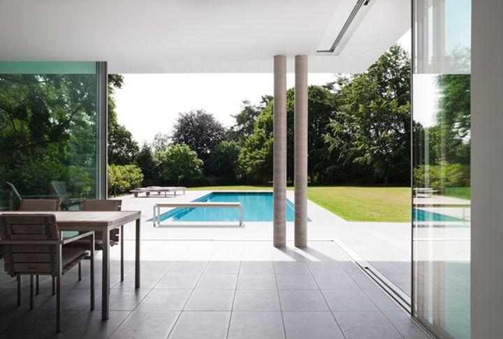 Keller larges fenêtres coulissantes vue maximale Agencement - Fenetre Pour Maison Passive