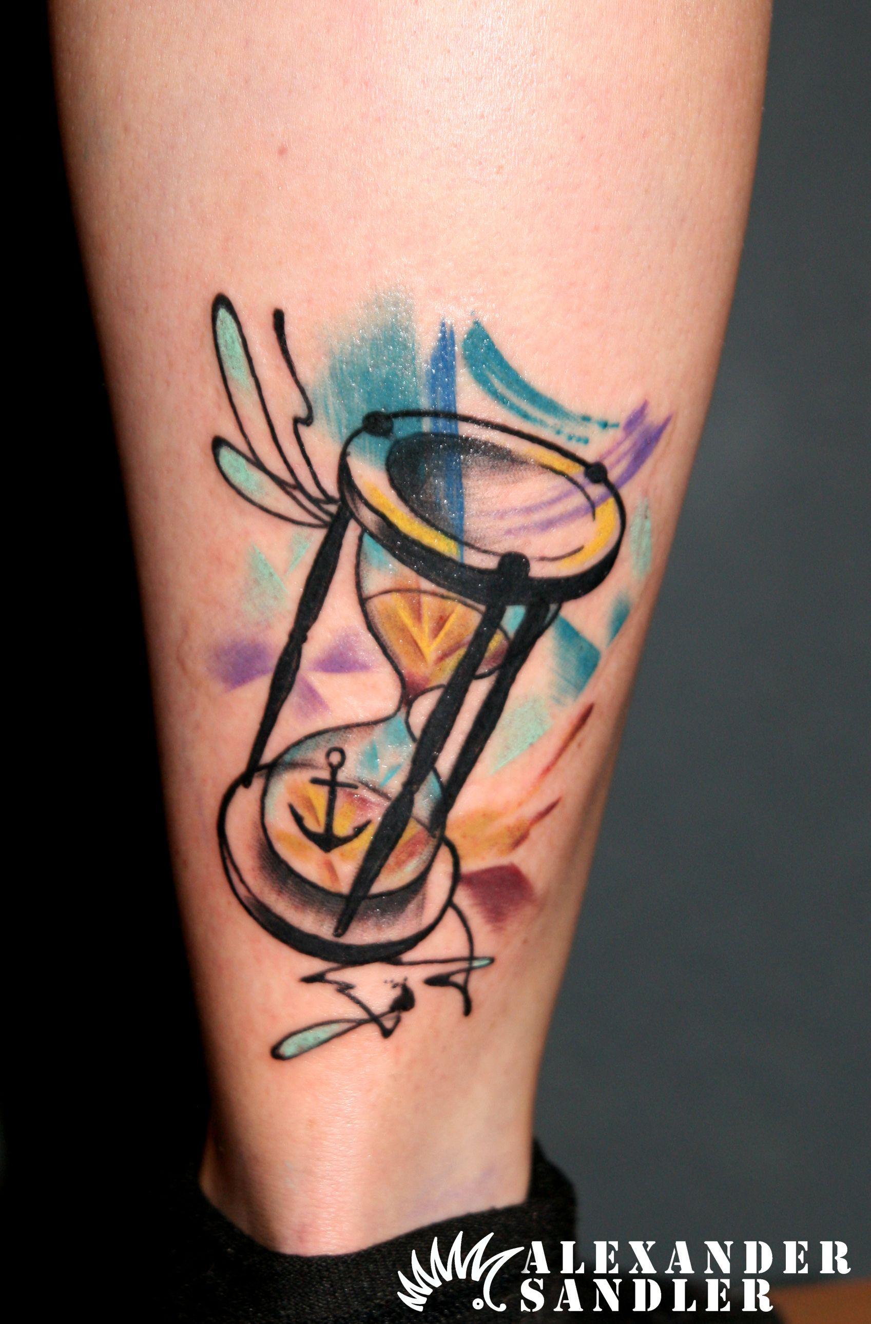 Abstract Hourglass Tattoo By Alexander Sandler Kipod