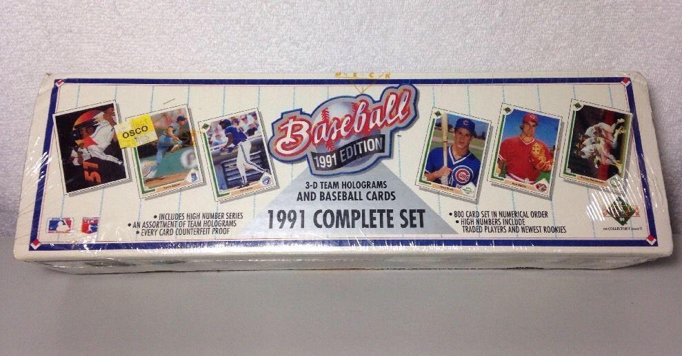1991 upper deck baseball complete sealed set 3d team