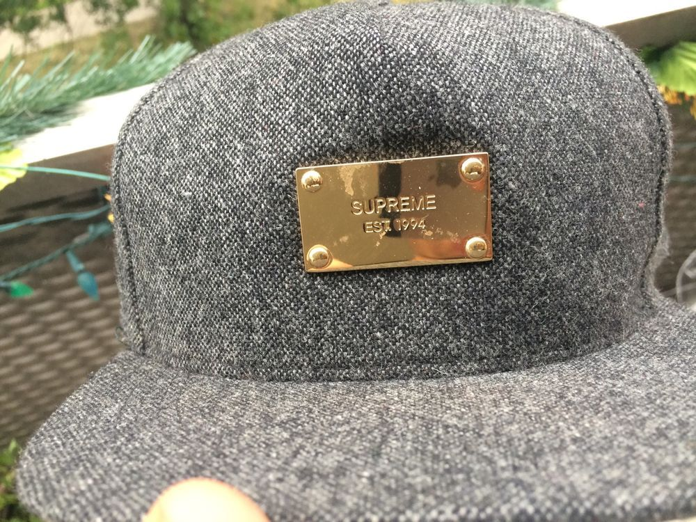 Supreme x Starter collab 2010 winter Wool snapback grey gold  Starter 049b5336b22