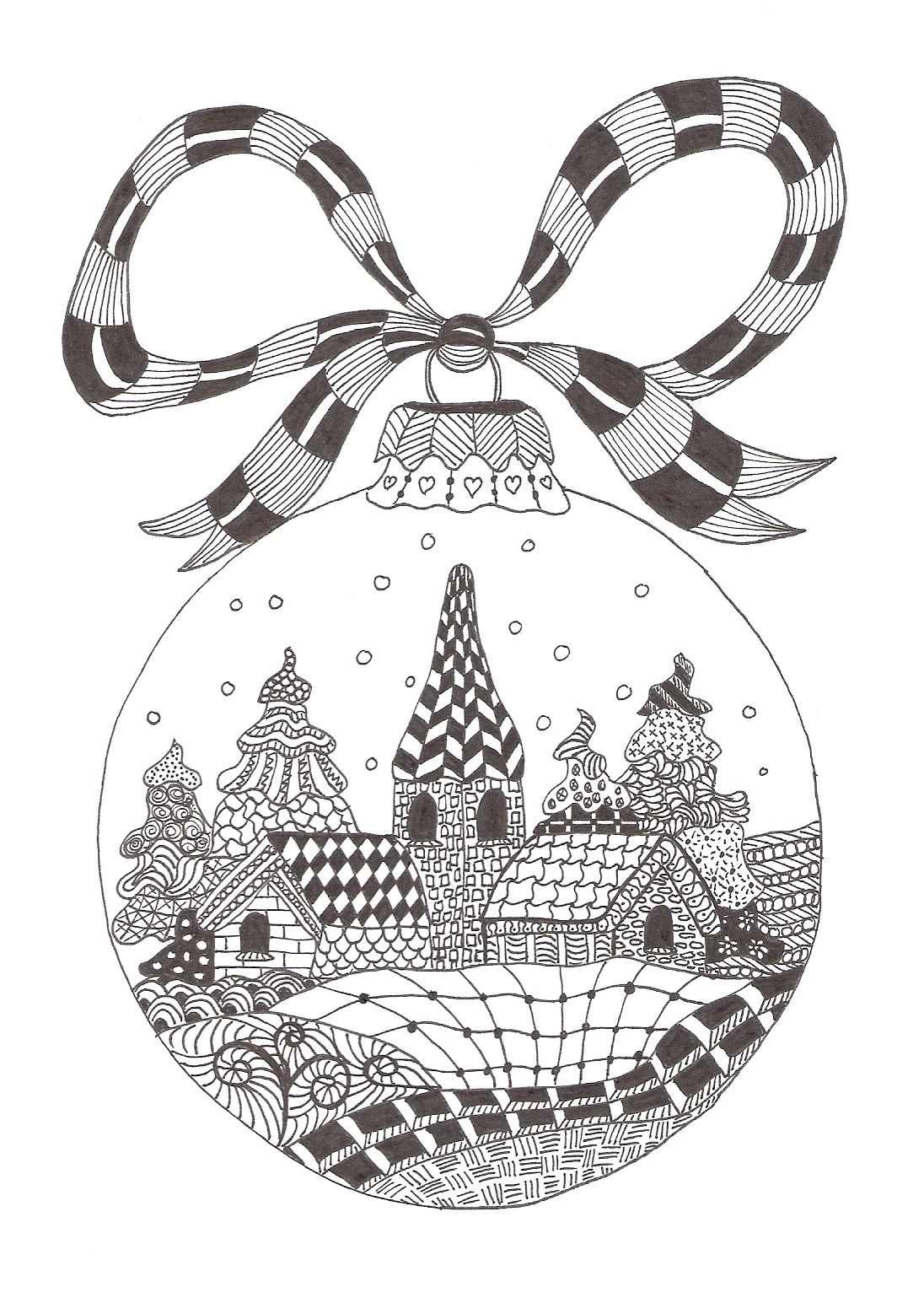 Pin By Debi Gonsales On Zentangles Made By Mariska Den Boer Zentangle Patterns Christmas Coloring Pages Christmas Colors