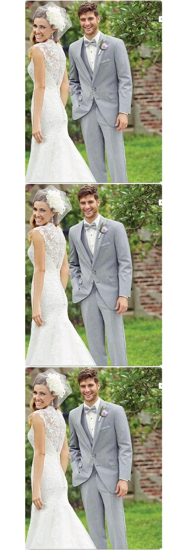 2017 Charming Business Men Light Grey Suits Vintage Bridegroom ...