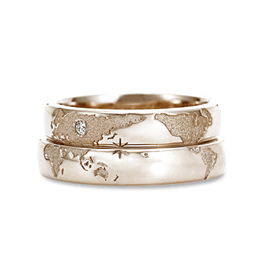 Great wedding ring idea for long distance relationship couples ...
