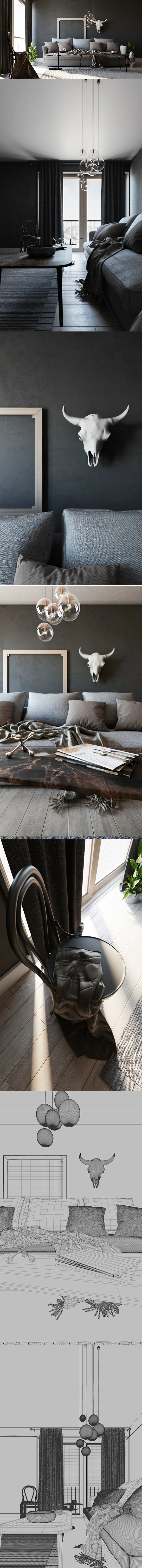 Simple Interior Scene - Corona. 3D model and objects for room 3D modelling. #3D #3DModel #3DDesign #3DScene #render #3dsmax #chair #cinema4d #corona #curtain #design #family #furniture #houseware #interior #living #LivingRoom #natural #nature #realistic #room #sofa #window