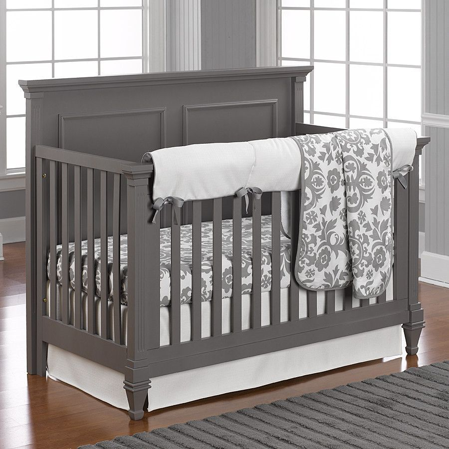 dark grey crib with light grey walls  mackenzies room  pinterest  - dark grey crib with light grey walls