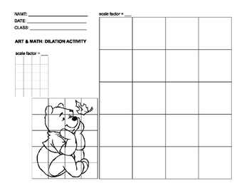 Scale Drawing Dilation Activity Scale Drawing Drawing Activities Teaching Mathematics