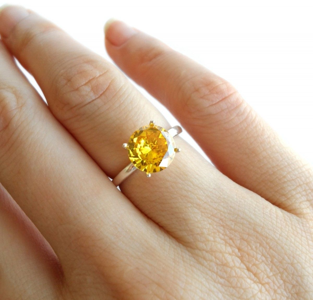 gem canary ring white products the gold yellow rings citrine engagement irish sapphire