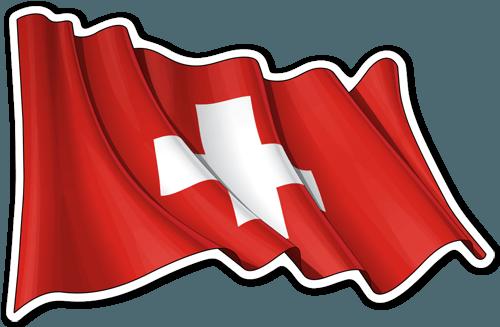 Bandera De Suiza Ondeando Bandera De Suiza Bandera Pegatinas