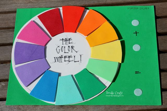 Craft For Kids Color Wheel Thecraftideas