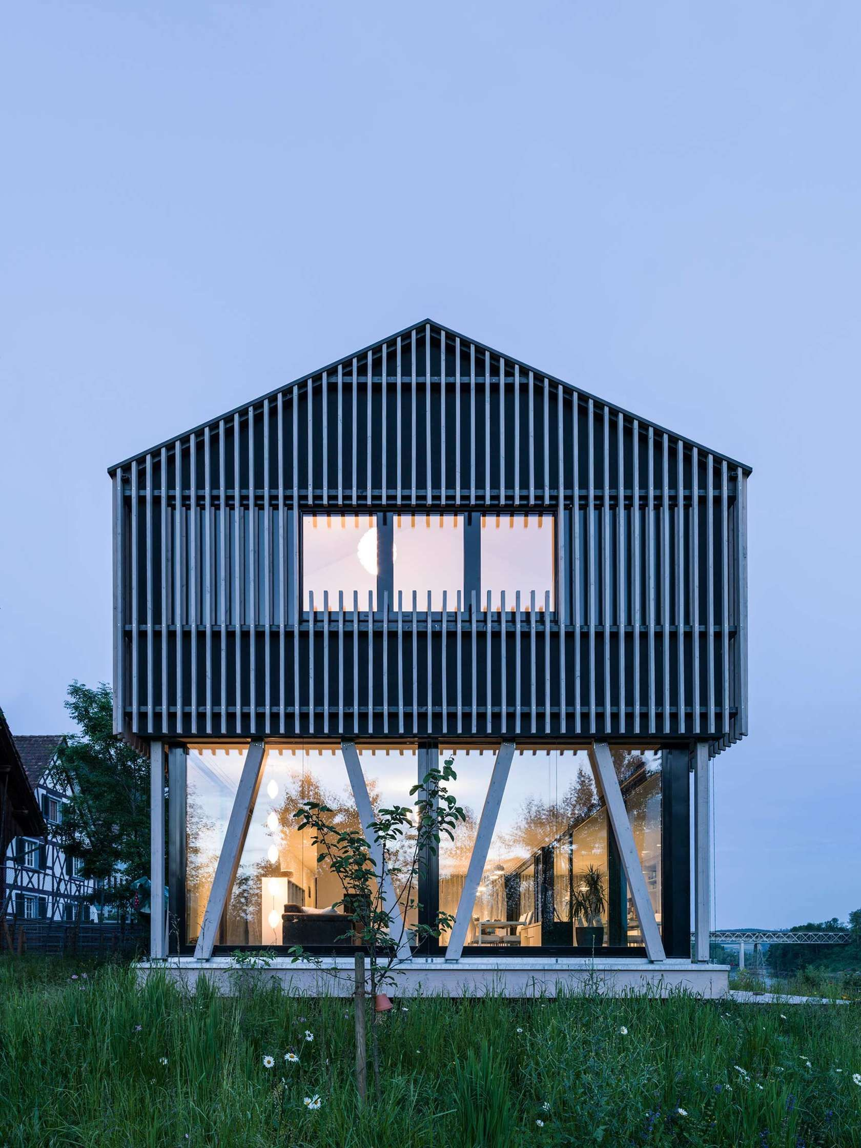 neubau einfamilienhaus in holzbau hemishofen dost. Black Bedroom Furniture Sets. Home Design Ideas