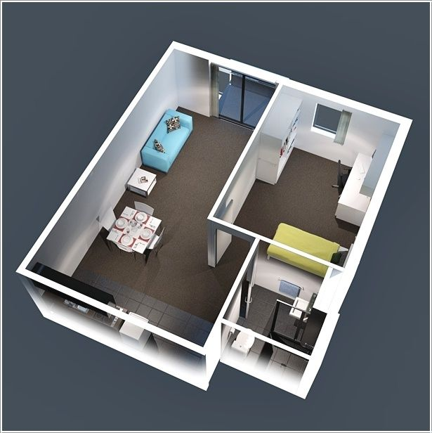 10 Ideas For One Bedroom Apartment Floor Plans One Bedroom Apartment Apartment Floor Plans One Bedroom House