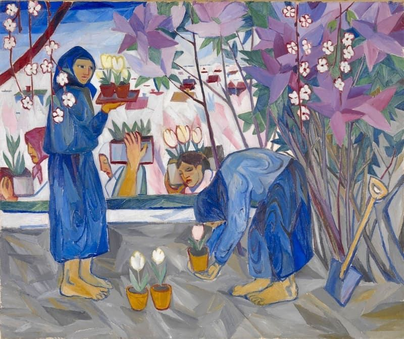 "Historia/Arte on Instagram: ""Natalia Goncharova #arte #art #historiadelarte #arthistory #nataliagoncharova #pintura #womenartists #paint #instaart #instagarden #jardin…"""