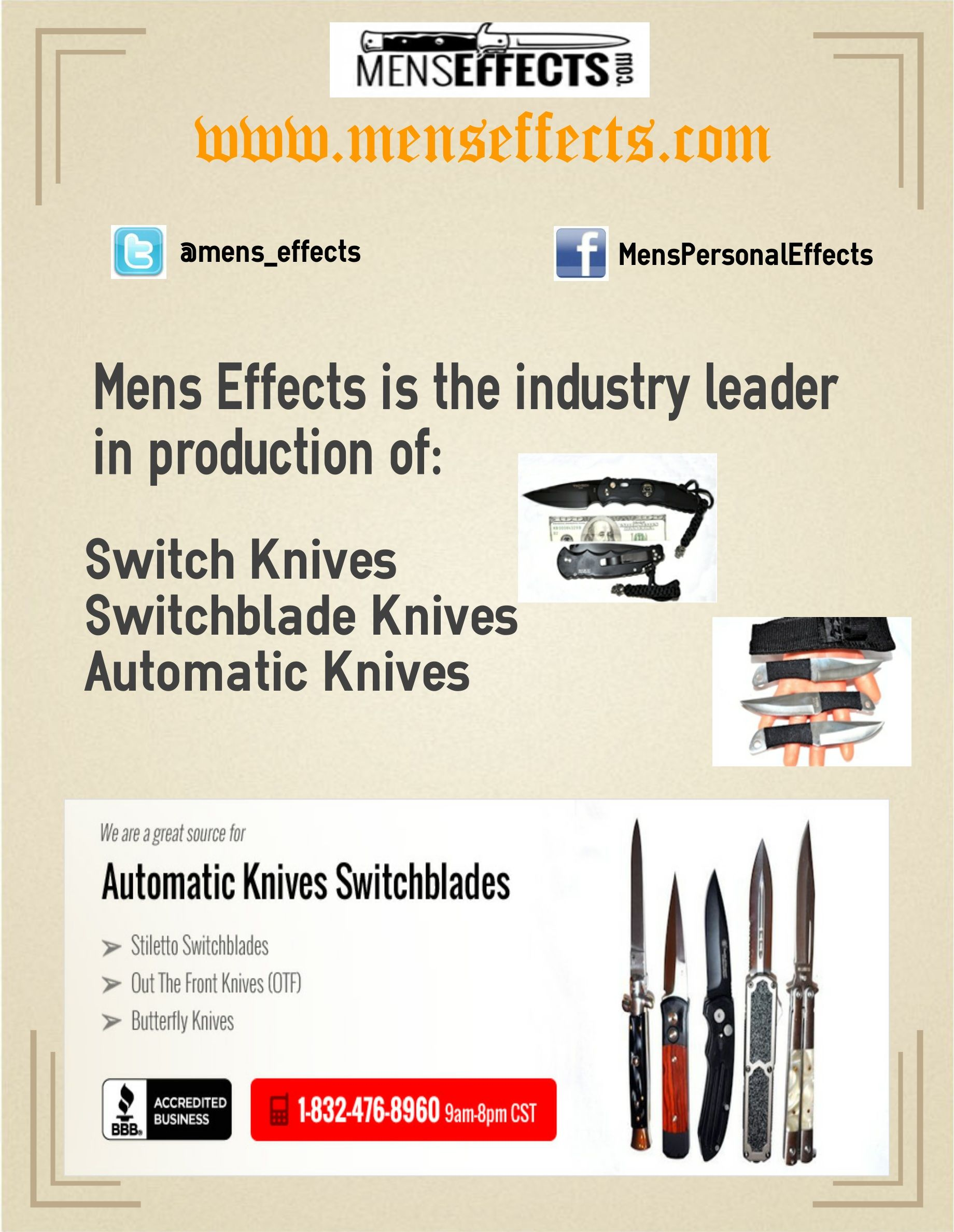 Find genuine Italian switch and switchblades knives at budget pricings from the best automatic switchblade knives retailer, Mens Effects. Check out our best deals on the different varieties of stiletto knives we carry.