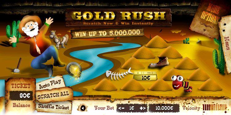 Juego Rasca y Gana para casino on-line.