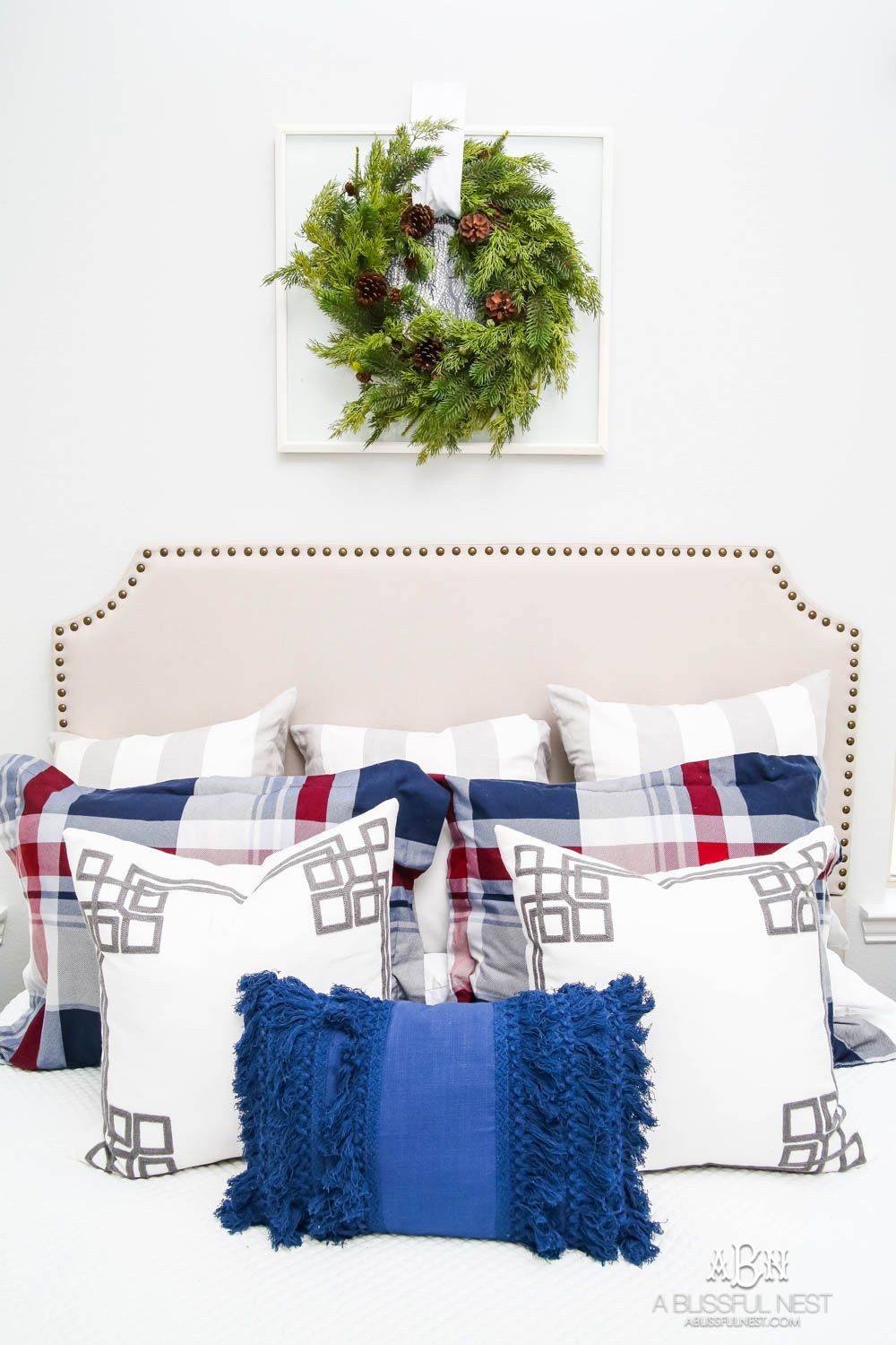 Plaid Holiday Guest Bedroom DESIGN TIPS BY A BLISSFUL
