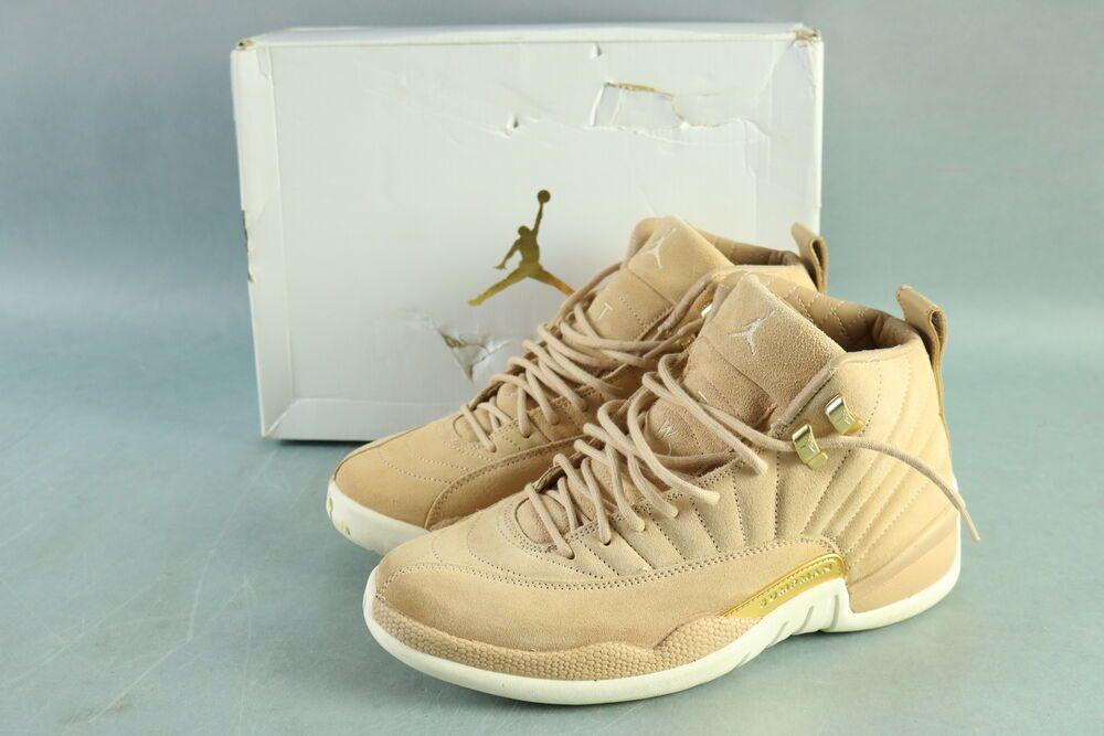 2aa73a5038c62 Nike AO6068 203 Air Jordan 12 Retro Ladies Vachetta Tan W/Gold Shoes ...