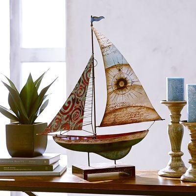 Capiz & Metal Sailboat