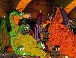 Flight of Dragons - drunk dragons! Hehe