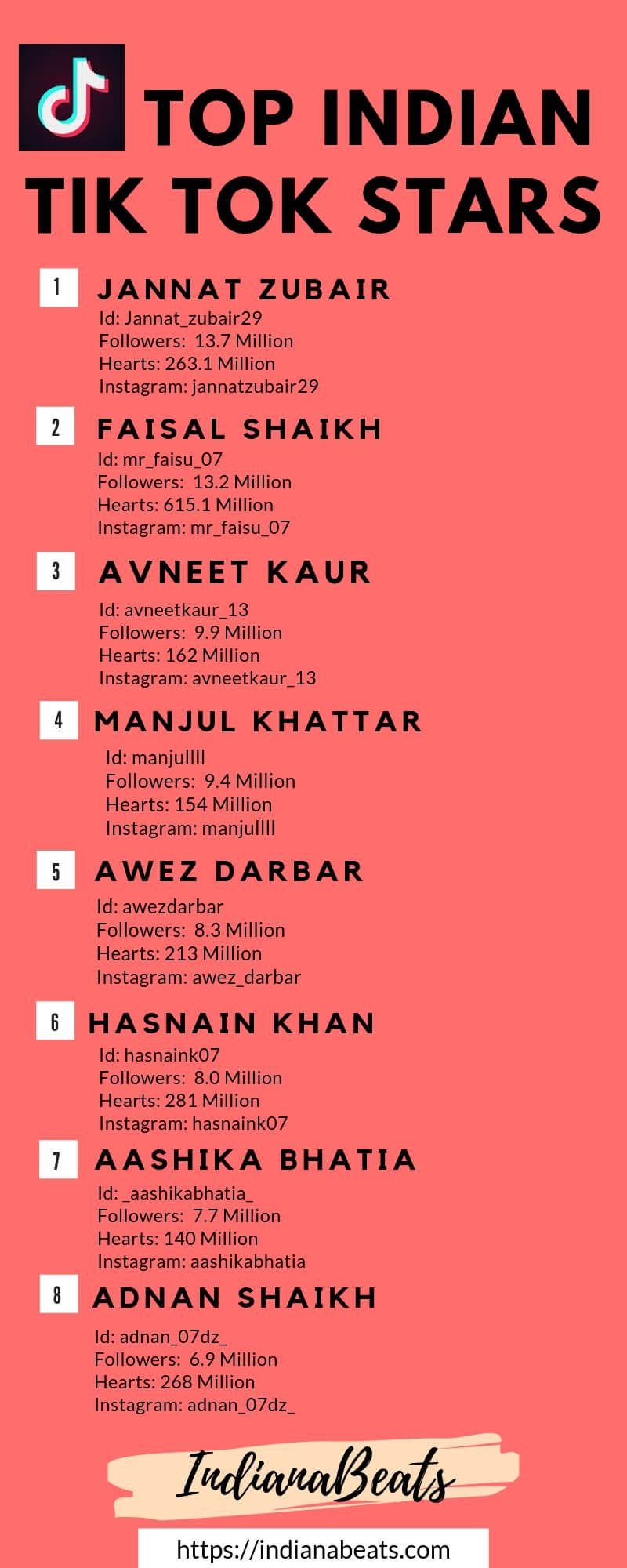 Top Indian TikTok (Musically) Stars and their Stardom 2019 [UPDATED