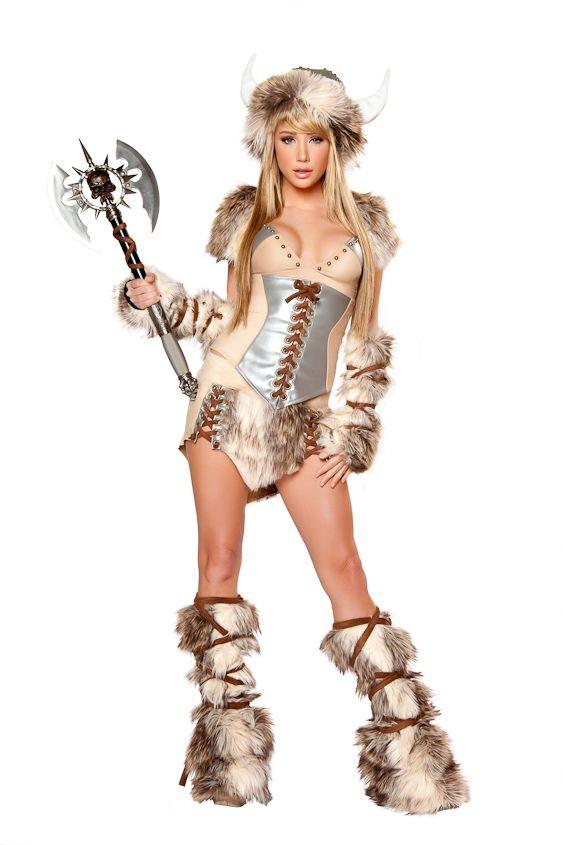 halloween...JV-CS101 Sexy upscale Viking faux fur trimmed skirt costume UpscaleStripper.com  sc 1 st  Pinterest & halloween...JV-CS101 Sexy upscale Viking faux fur trimmed skirt ...