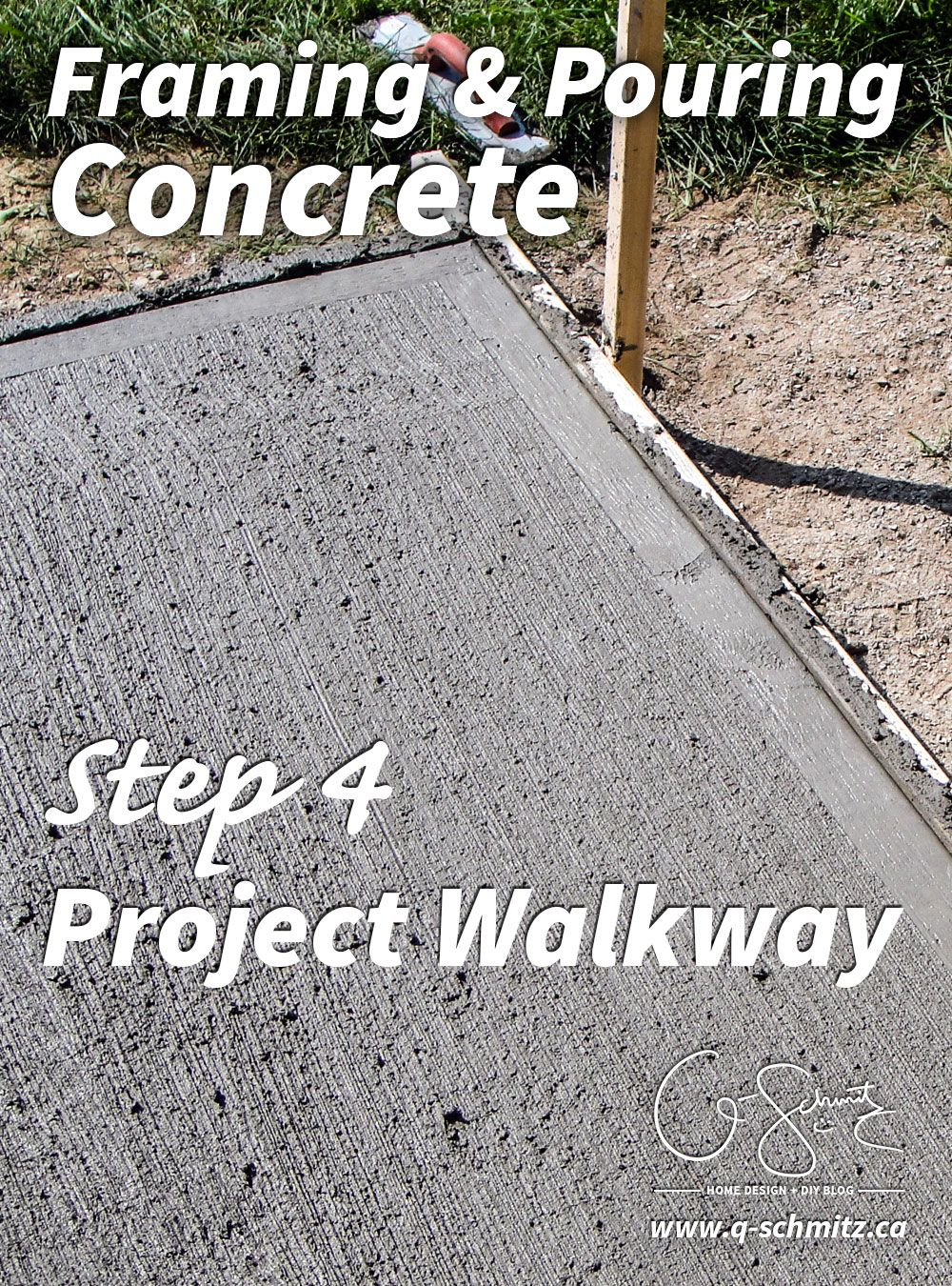 Project Walkway: Framing and Pouring Concrete | Pinterest | Concrete ...