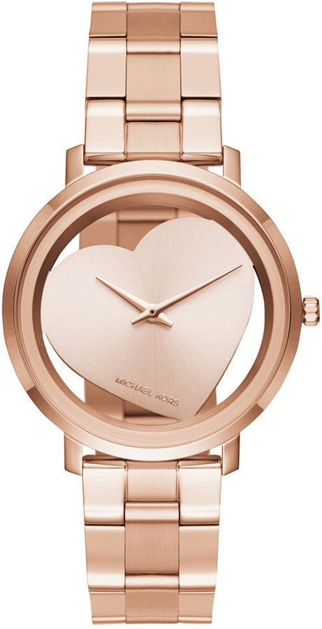 e2a726f6fdfd Michael Kors Women s Jaryn Rose Gold-Tone Stainless Steel Bracelet Watch  38mm MK3622
