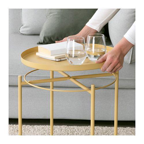 Gladom Tray Table Light Yellow Ikea Ikea Table