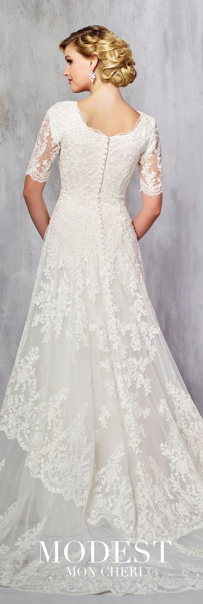 Modest Wedding Dresses Modest By Mon Cheri Modest Wedding Dresses Short Wedding Dress Trendy Wedding Dresses [ 2000 x 673 Pixel ]