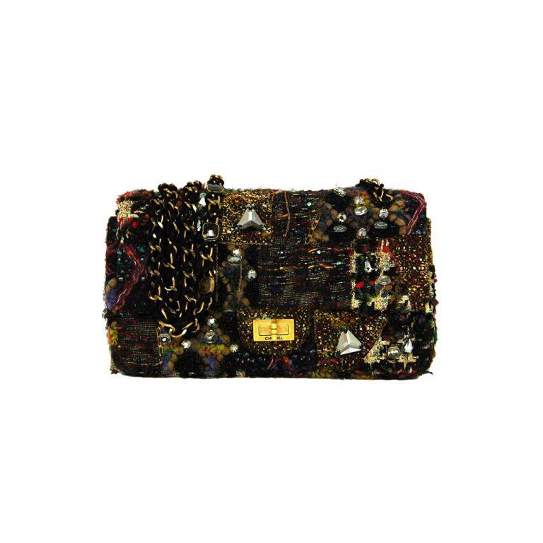 b0fd58dfa83d CHANEL 2011 Limited Edition Paris/Lesage Tweed Reissue 2.55 Flap ...