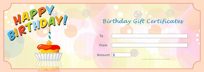 Gift Certificates Samples Interesting Birthday Gift Certificates Template  Free Gift Certificate Template .