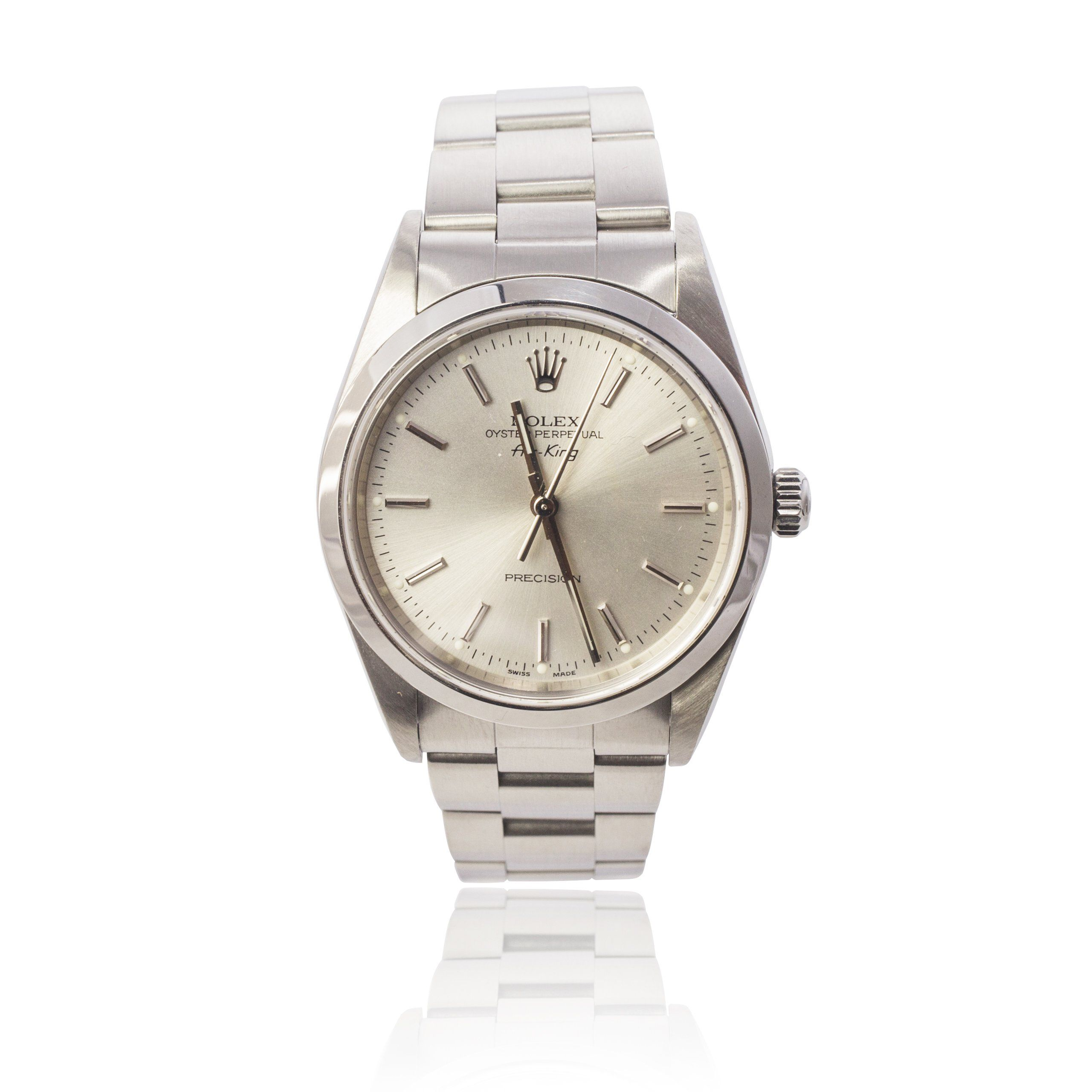Rolex gents steel oyster perpetual airking ref 14000m
