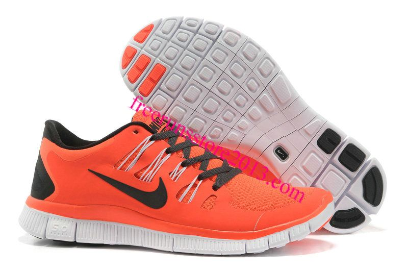 wholesale dealer b1471 77710 Mens Nike Free 5.0 Black Orange Shoes  Orange  Womens  Sneakers