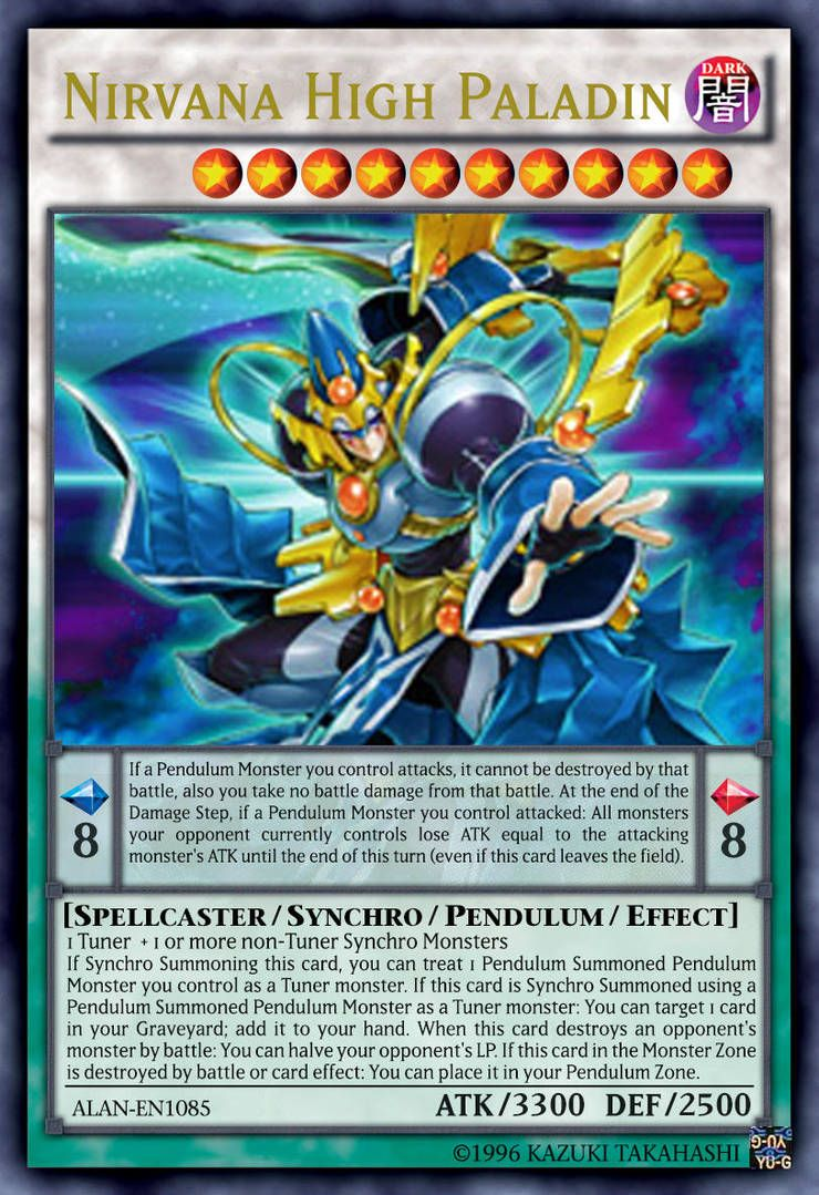 Nirvana High Paladin By Alanmac95 With Images Custom Yugioh