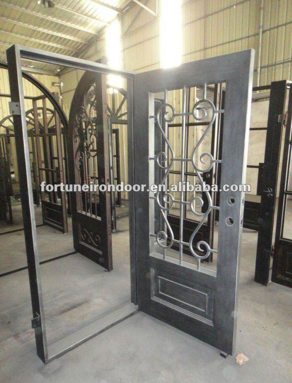 Porta ferro battuto e vetro cerca con google idee per - Cancello porta ingresso ...