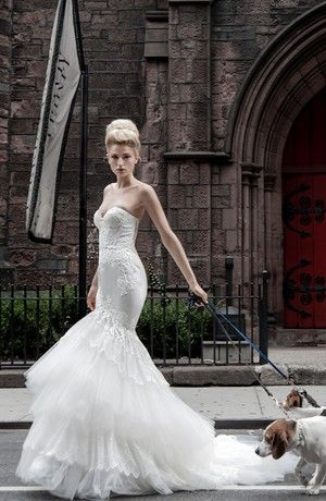 Pnina Tornai Mermaid Wedding Dress with Sweetheart Neckline and ...