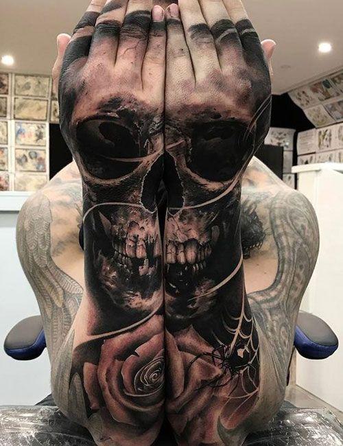 125 Best Skull Tattoos For Men Cool Designs Ideas 2021 Guide Skull Tattoo Design Tattoos For Guys Skull Tattoos